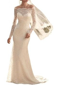 MiLano Bride Sexy Bateau Long Sleeves Sheath Lace Beach Wedding Dresses-12-Ivory MILANO BRIDE http://www.amazon.com/dp/B00PZE7JKA/ref=cm_sw_r_pi_dp_r0PWub1A1TCG6