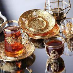 Cup And Saucer Set, Tea Cup Saucer, Cheap Tea Cups, Tee Set, Turkish Tea, Coffee Cup Set, Gold Cup, Lokal, Coffee Gifts