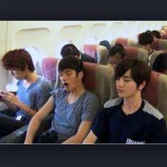 infinite f on an airplane