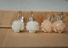 Flower Stud Earrings Resin Flower Earrings Cute by 99diystore, $2.99
