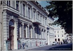 Приморский бульвар. Дворец культуры моряков. Слайд, 1963 год