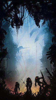 POSTER Alien vs Predator - If you make movie without any humans in it. Alien Vs Predator, Predator Movie, Predator Alien, Predator Series, Arte Alien, Alien Art, Dark Fantasy Art, Sci Fi Fantasy, Game Over Man