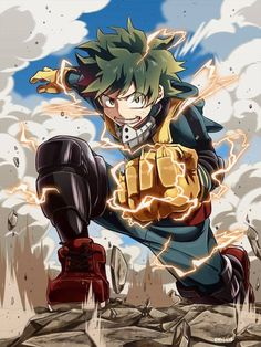 Izuku midoriya my hero academia герои, фан арт et персонажи аниме. Boku No Hero Academia, My Hero Academia Manga, Manga Anime, Fanarts Anime, Deku Anime, Deku Boku No Hero, The Garden Of Words, Chibi, Image Manga