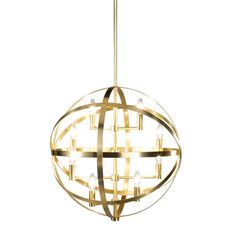 This pendant would look stunning in a large room! // Robert Abbey Lucy Pendant.
