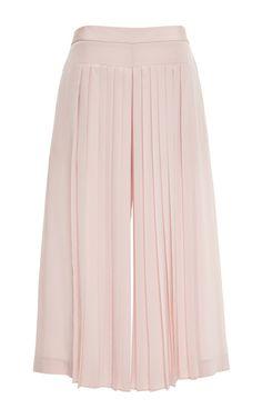Simone Silk Pleated Culotte In Zen Blush by Tibi for Preorder on Moda Operandi