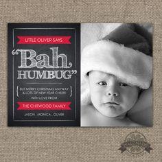 Photo Christmas Card - Chalkboard Christmas Cards AND Backside File ...