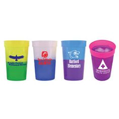 Mood Stadium Cups!  Change colors with cold liquids!  Great for team spirit!!  Custom order at www.eloquenceonline.com