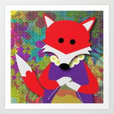 Fiona Fox loves to knit. What do you love to do?