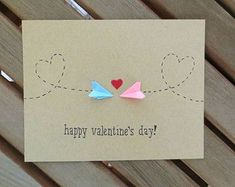 This sweet Valentine& card is suitable for those . This sweet Valentine& card is suitable for those who love long-distance - Valentine Day Crafts, Happy Valentines Day, Diy Valentines Cards, Valentines Day Long Distance, Homemade Valentine Cards, Love Cards, Diy Cards, Tarjetas Diy, Karten Diy