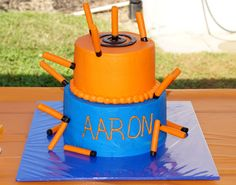 nerf+cake | Nerf cake with bullets