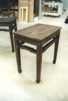 Table stained but not polished... Chinese styled. Look at that distressing and effects!