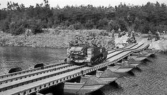 Carriers of 1/5th Welch Regiment, British 53rd Division crossing the Meuse into Holland, 20 Sep 1944