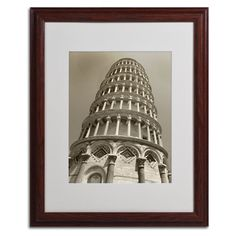 Pisa Tower II by Chris Bliss Matted Framed Photographic Print