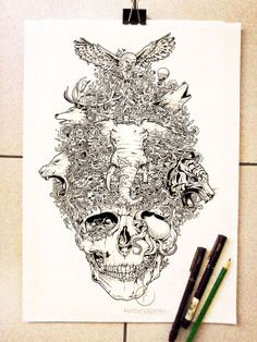 Majestic Animal Doodle Illustrations - Kerby Rosanes's Pen Doodle Illustrations are Majestic (GALLERY)