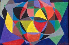 Small geometry n. 6 by Jg Wilson  oil on cardboard