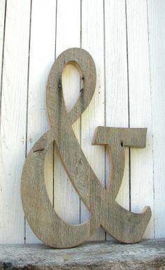 Big Barn Wood Ampersand Sign Wedding Photo by SecondNatureWoodwork, $81.00