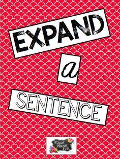 Expand-A-Sentence [FREE]   Teach Speech 365   Bloglovin'