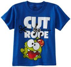 Cut The Rope Boys 8-20 Cut The Rope Om Nom Tee, Royal, Medium coupon| gamesinfomation.com