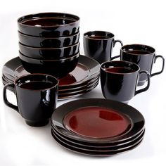 dishware sets hometrends lagoon 16 piece dinnerware set