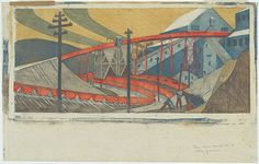 Ethel Spowers (1890–1947) TITLE The works, Yallourn. DATE MADE 1933 REFERENCE