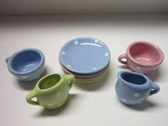 Vintage Childs Mini Tea Set SCHYLLING Fiesta ware by PriorMemories, $22.50