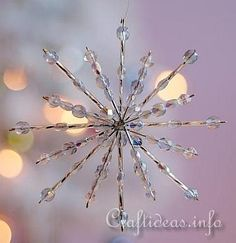 Beaded Snowflake - Blue Crystals 1 http://www.ecrafty.com/casearch.aspx?SearchTerm=snowflake