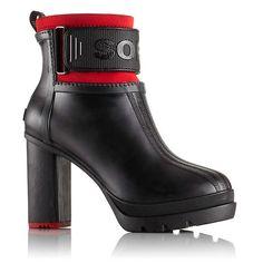 Women's Medina™ III Rain Heel Boot - Black, Bright Red - 1627241