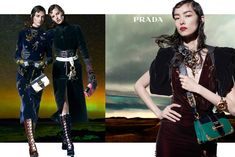 Prada features nautical chic styles in fall 2016 campaign- Steven Meisel Prada, Sasha Pivovarova, Stella Tennant, Foto Fashion, High Fashion, Fall Fashion 2016, Fashion Advertising, Advertising Campaign, Steven Meisel