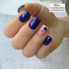 Blue Gel Nails, Colored Acrylic Nails, Oval Nails, Best Acrylic Nails, Heart Nail Designs, Beautiful Nail Designs, Chic Nails, Stylish Nails, Nail Growth Tips