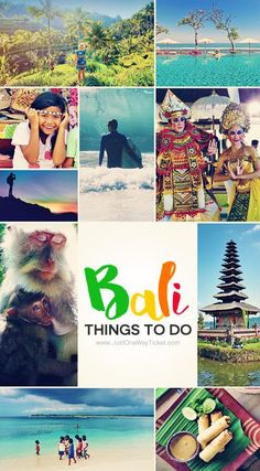 10 Top Things To Do In Bali Indonesia | Feeling overwhelmed with planning your Bali itinerary? Look no further! Here is my personal travel guide for you, with tips on things to do and where to stay in Bali... | via @Just1WayTicket