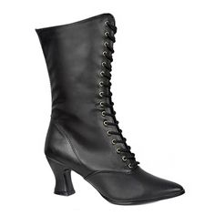 VICTORIAN-120 Black Victorian Boots