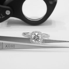 D/SI1 Round Cut Natural Diamond Engagement Ring by Brillianteers $1650