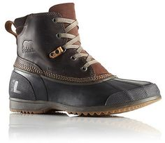 Sorel Ankeny Boot - Men's: Full-grain waterproof leather and vulcanized rubber shell combine to promise comfort and protection, with an extra dash of attitude.