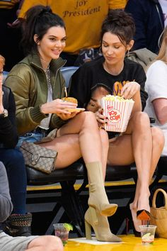 8 November Kendall Jenner and Bella Hadid added some glamour to the sidelines of the Los Angeles Lakers game.
