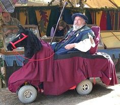 This jousting knight costume has a clever way of incorporating a wheelchair into a medieval costume. Description from costumepop.com. I searched for this on bing.com/images