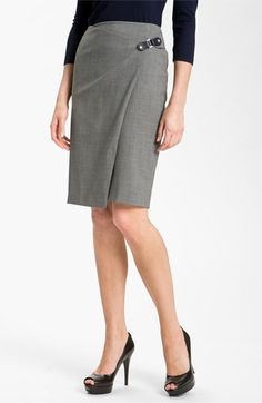 Lafayette 148 New York Faux Wrap Skirt available at #Nordstrom