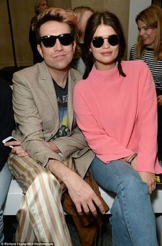 Loving life: Keeping close to her BFF Nick Grimshaw, 31, no doubt they had much to talk about after he announced he had quit his position as judge on X Factor after just one year