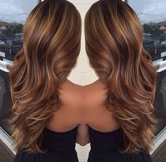 Beautiful brown hair- i love the highlights