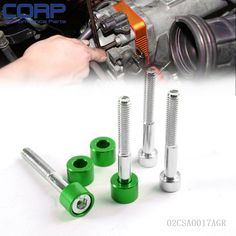 4 pcs Green 6mm Cup Washer Kit (Cam Cap / B-Series) For Honda B-Series