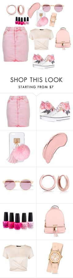 """""""Cotton Candy"""" by aharcaki ❤ liked on Polyvore featuring Topshop, Converse, Ashlyn'd, NYX, Sheriff&Cherry, Bling Jewelry, OPI, MICHAEL Michael Kors, New Look and Michele"""