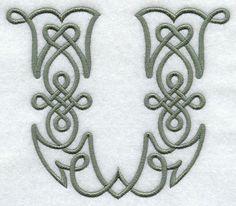 Celtic Knotwork Letter U - 5 Inch