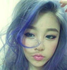 Blue hair #gyaru style