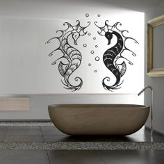 Wall decal decor decals sticker hippocampus sea by DecorWallDecals, $27.98