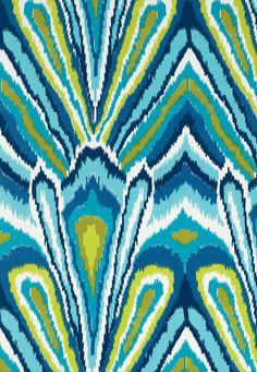 Peacock Print Pool Fabric SKU - 174280 Indoor/Outdoor