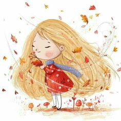 Pin by tamara domuzin on illustrator Art And Illustration, Character Illustration, Little Girl Illustrations, Dibujos Cute, Whimsical Art, Cartoon Art, Cartoon Memes, Cartoon Drawings, Cartoon Characters