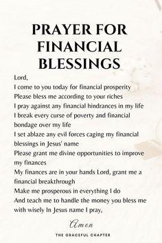 Prayer Scriptures, Bible Prayers, Faith Prayer, Prayer Quotes, Bible Verses Quotes, Spiritual Quotes, Powerful Scriptures, Affirmation Quotes, Prayer For Finances