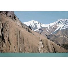 9. The Alborz sedimentary strata are nearly vertical in the Karaj dam's reservoir
