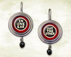 Fun earrings.