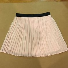 Pink Pleated Skirt Pink pleated short skirt, from xhilaration. Size Large. Skirts Circle & Skater
