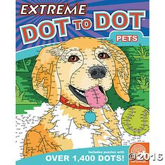 Extreme Dot to Dot: Pets  Intricate, challenging and wildly rewarding to finish, these complex puzzles range from 300 to over 1,400 dots. Some puzzles even cover a two-page spread! #MindWareToys #FreePrintable #DotToDot